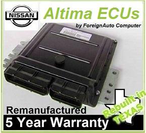 Rebuilt Altima ECUs w/ 5 year warranty 800 241 6689